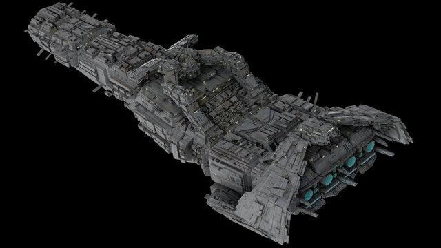 Battleship Spaceship, top view