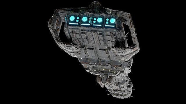 Battleship Spaceship -Low view