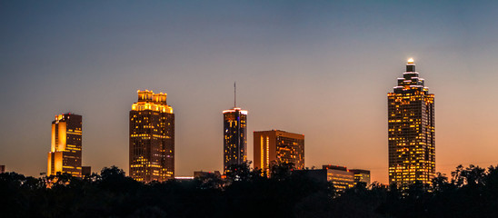 Wall Mural - Majestic Atlanta Nights
