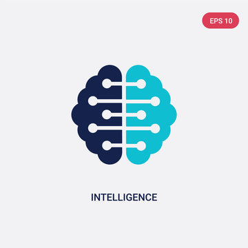 two color intelligence vector icon from big data concept. isolated blue intelligence vector sign symbol can be use for web, mobile and logo. eps 10
