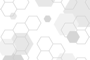 Gray hexagon pattern