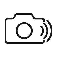 photo camera wireless - minimal line web icon. simple vector illustration. concept for infographic, website or app.