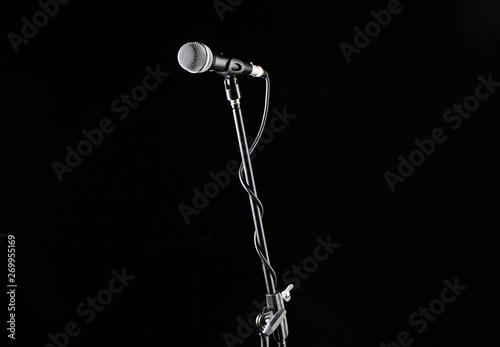 Microphone stand, microphone voice, closeup mic  Karaoke