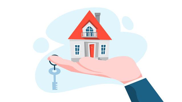 Real estate agent concept