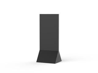 Free standing Corrugated promotional display paperboard, modern display shelf Cardboard pop standee mock up, 3d illustration