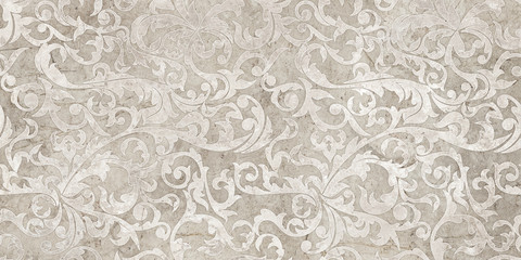 vintage background with floral damask pattern