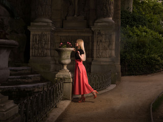 Girl in the Jardin du Luxembourg
