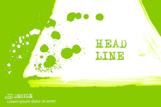Paint banner. Brush stroke. Vector illustration.