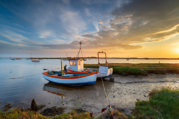 Wall Mural - Fishing boats on the mouth of the River Alde