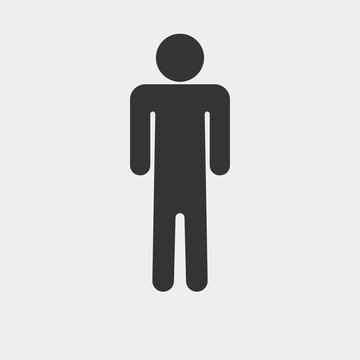 Man vector icon illustration sign