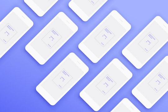 Background from Lot of Mockups white smartphones