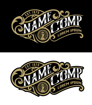Vintage logo template. Vector layered