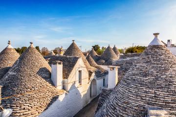 village Alberobello with gabled (trullo) roofs, Puglia, Italy
