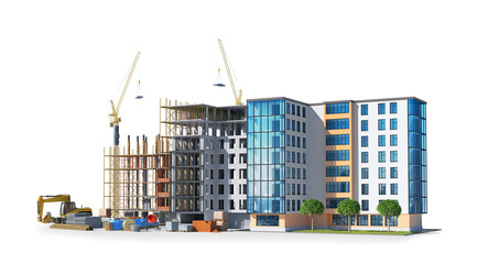 building structure, construction. 3d illustration