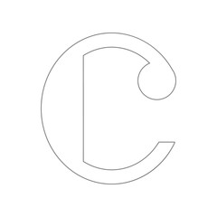 Isolated musical note, Common time icon. Element of web for mobile concept and web apps icon. Outline, thin line icon for website design and development, app development
