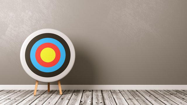 Target on Wooden Floor in the Room