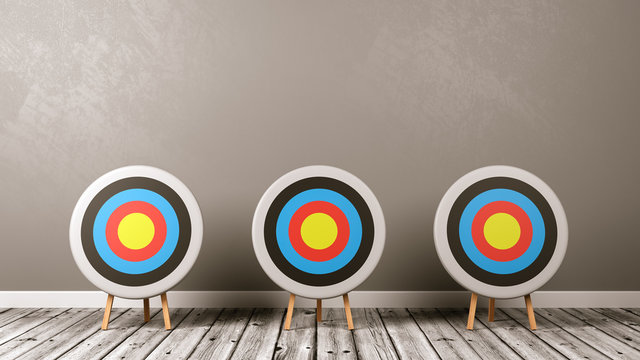 Targets on Wooden Floor in the Room