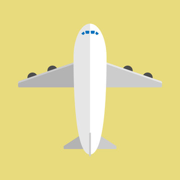 air plane in flat design with background