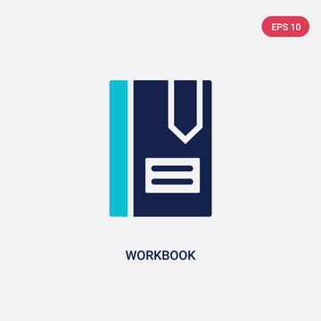 two color workbook vector icon from business concept. isolated blue workbook vector sign symbol can be use for web, mobile and logo. eps 10