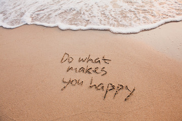 Do what makes you happy, inspirational quote, happiness concept.
