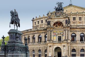Fototapete - Semperoper Dresden