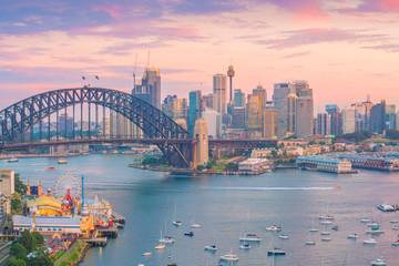 Foto op Canvas Sydney Downtown Sydney skyline in Australia