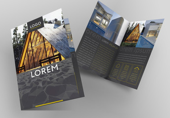 Grey Architecture Style Brochure Layout