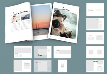 Minimalist Design Magazine Layout