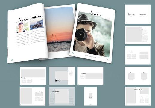 Minimalist Design Magazine Layout