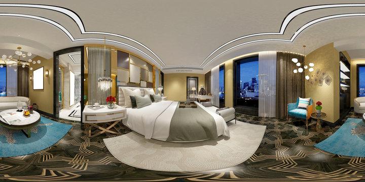 360 degrees hotel bedroom