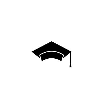 Graduate cap icon logo. Vector