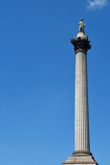 The statue of Admiral Nelson that sits ontop of Nelson's Column in London