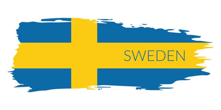 """Grunge button """"Flag of Sweden"""""""