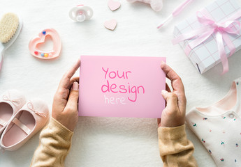 Baby Shower Design Mockup