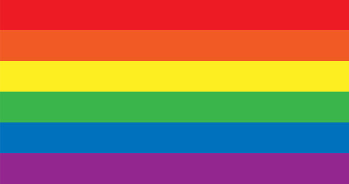 Vector LGBT rainbow pride flag