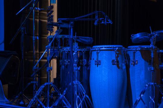 ライブステージのパーカッション