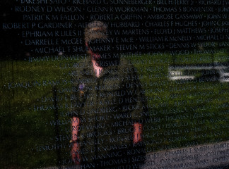 Memorial Day at the Vietnam Memorial in Washington, DC