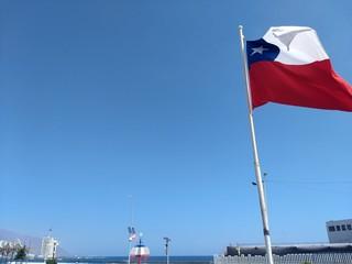 El cielo y la bandera chilena
