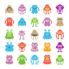 colorful monster character icons