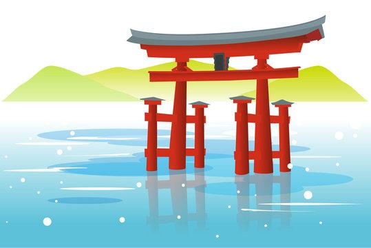 宮島・厳島神社の大鳥居