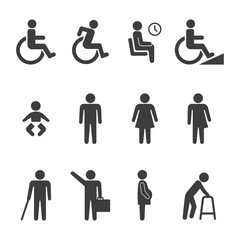 set of accessibility icon vector