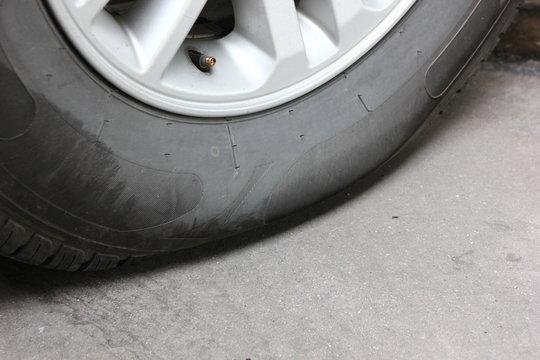 car wheel low air pressure.
