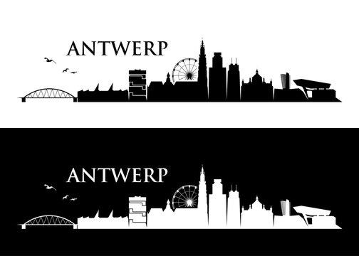 Antwerp skyline - Belgium - vector illustration - Vector