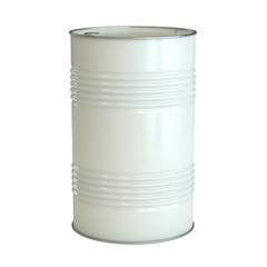 White barrel isolated on the white background 3d rendering