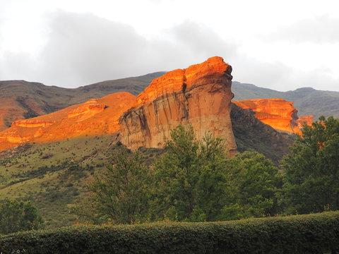 Sunset, Golden Gate Highlands National Park, South Africa