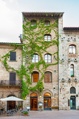 Fototapete - Historiical town San Gimignano, Tuscany, Italy, Europe
