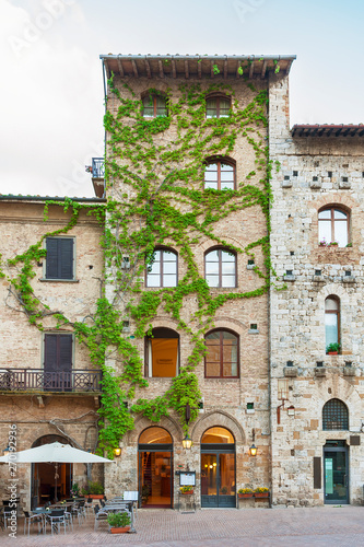 Fototapete Historiical town San Gimignano, Tuscany, Italy, Europe