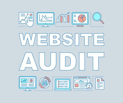 Website audit word concepts banner