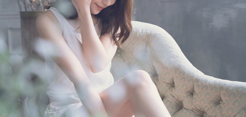 Obraz 美容イメージ - fototapety do salonu