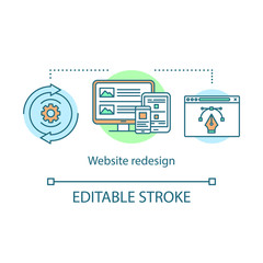 Obraz Website redesign concept icon - fototapety do salonu